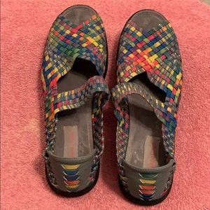 Bare traps woven shoes. Make Offer!